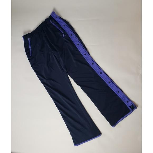 49987787aea86 Purple blue Adidas snap pants 90's basketball